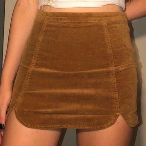 Brandy Melville Corduroy-ish Brown Skirt